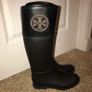Tory Burch Classic Rain Boots - size 8